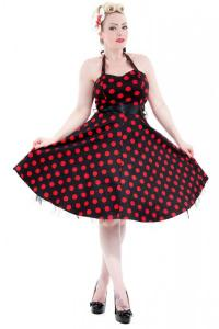 Big Red Polkadot 1950s Rockabilly Dress UK8 ONLY