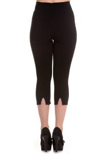 Tina Black Capri Trousers by Hell Bunny