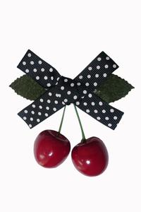 Hamilton Cherry Bow Hairclip by Banned